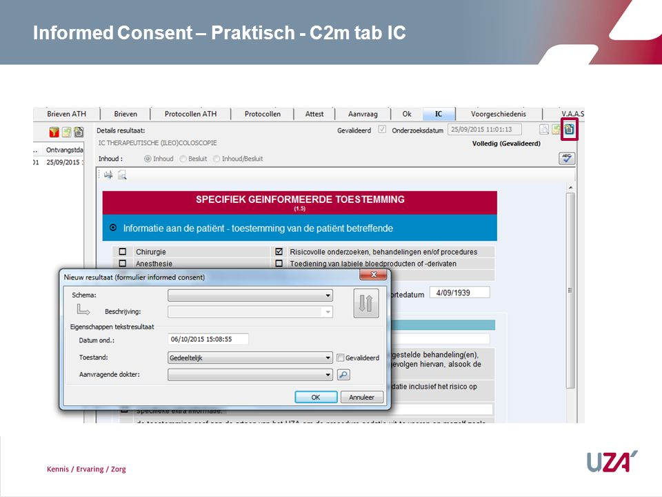 Informed Consent – Praktisch - C2m tab IC