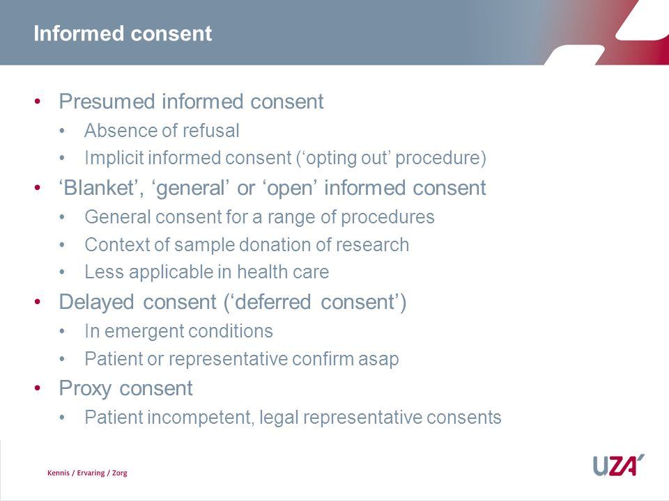Presumed informed consent