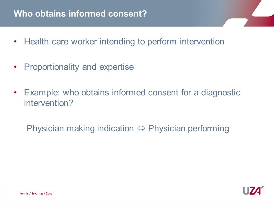 Who obtains informed consent
