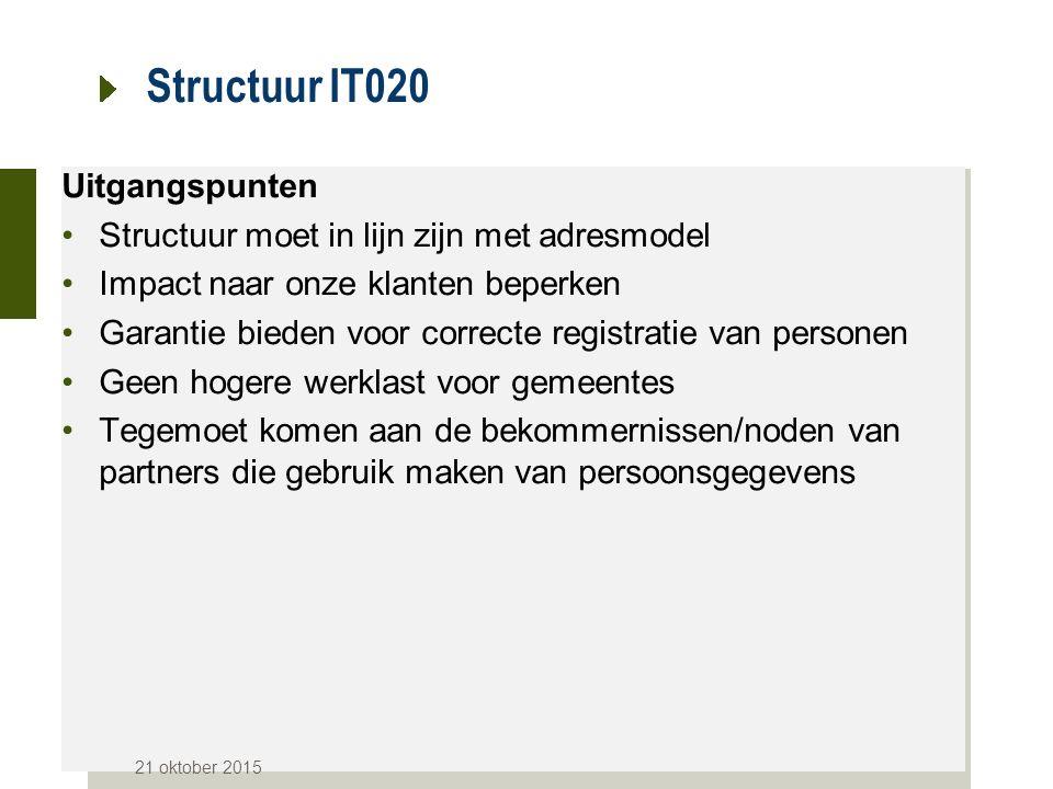 Structuur IT020 Uitgangspunten