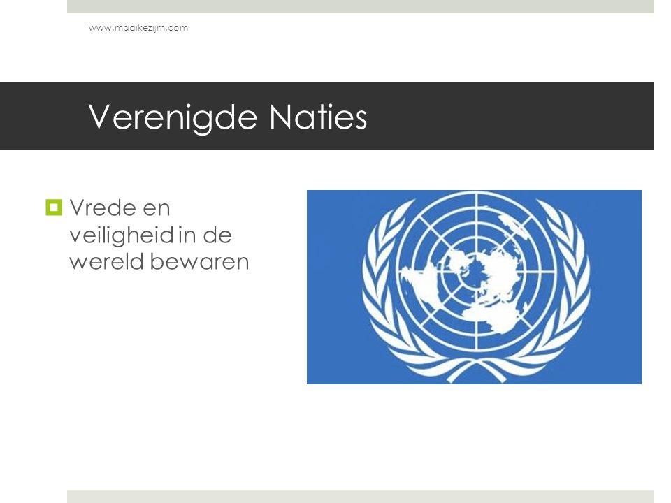 Verenigde Naties Vrede en veiligheid in de wereld bewaren