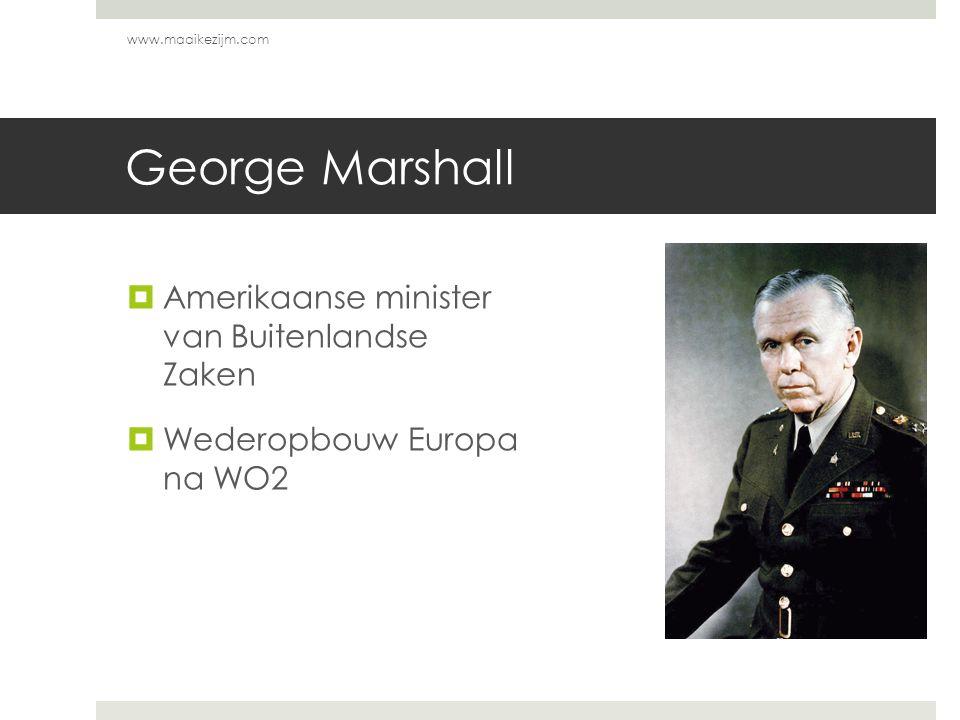 George Marshall Amerikaanse minister van Buitenlandse Zaken