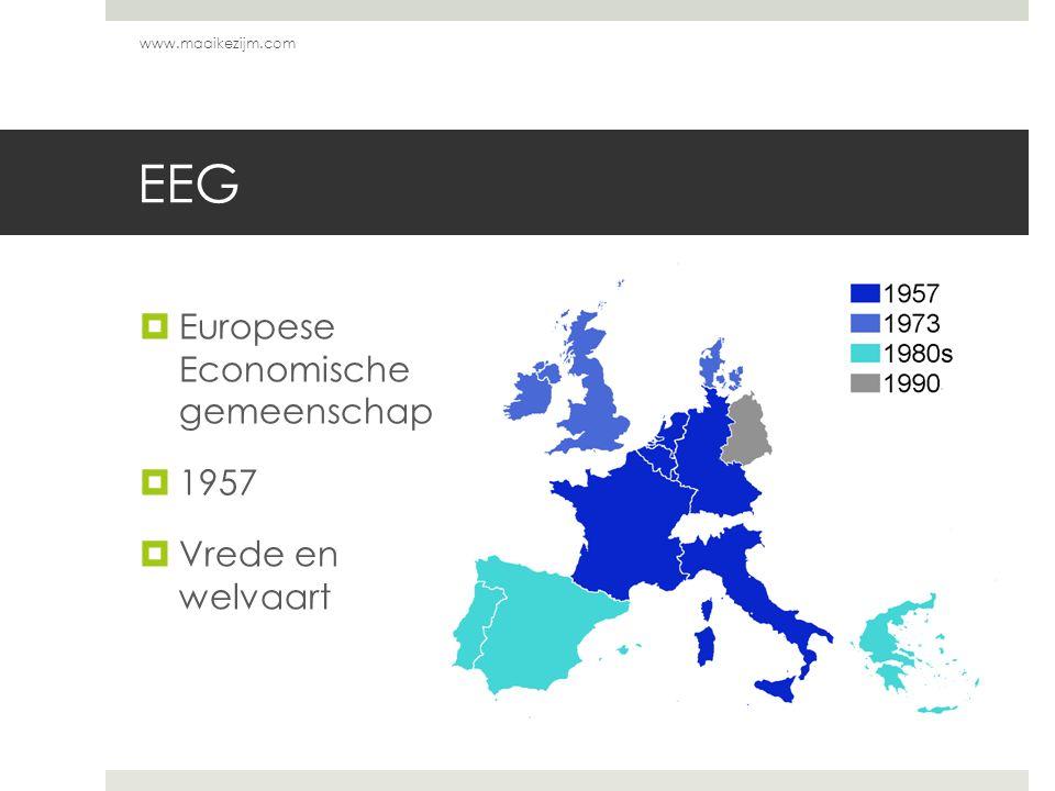 EEG Europese Economische gemeenschap 1957 Vrede en welvaart