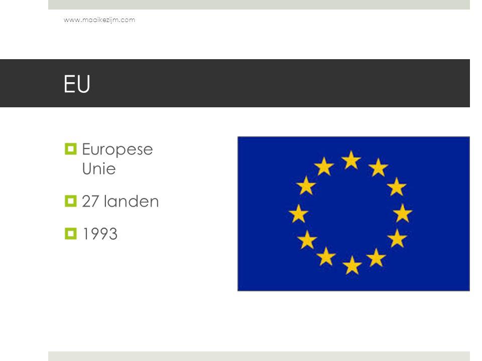 www.maaikezijm.com EU Europese Unie 27 landen 1993