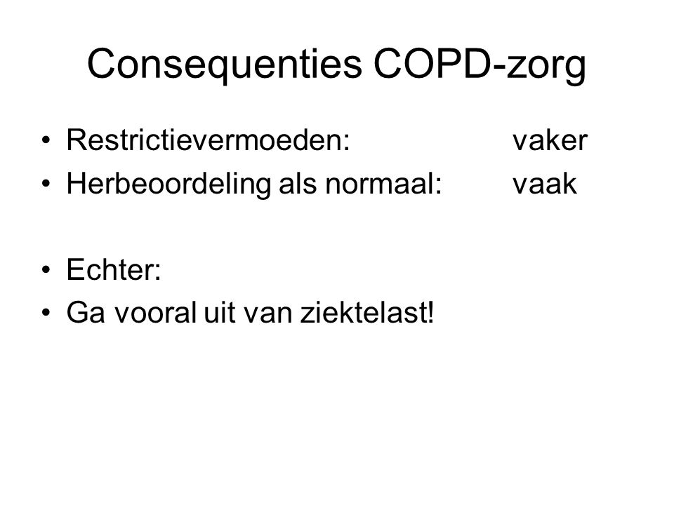 Consequenties COPD-zorg