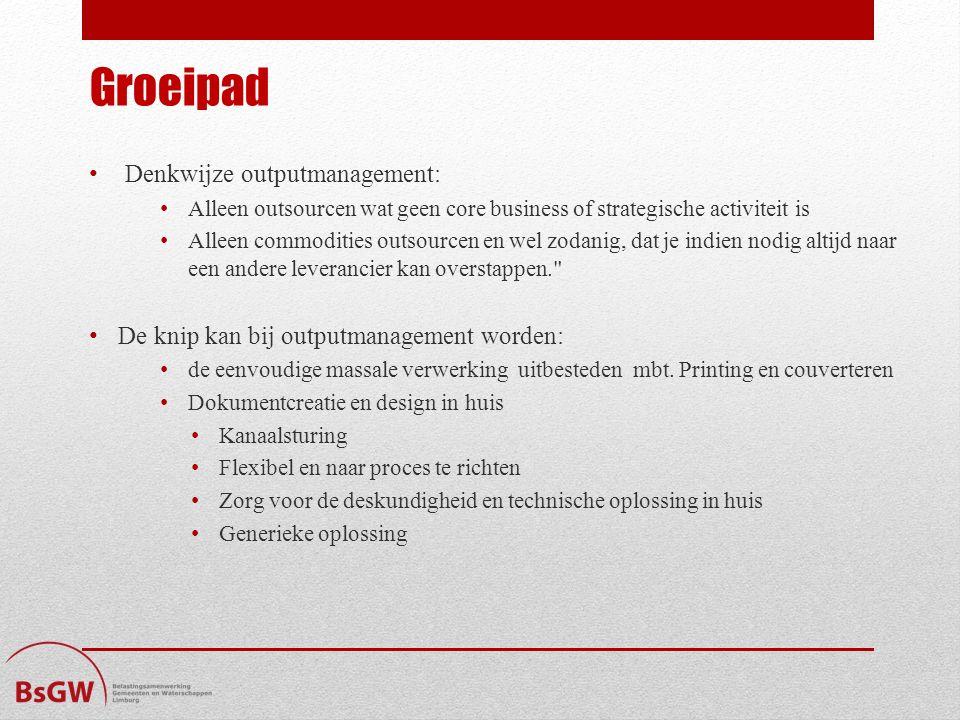 Groeipad Denkwijze outputmanagement: