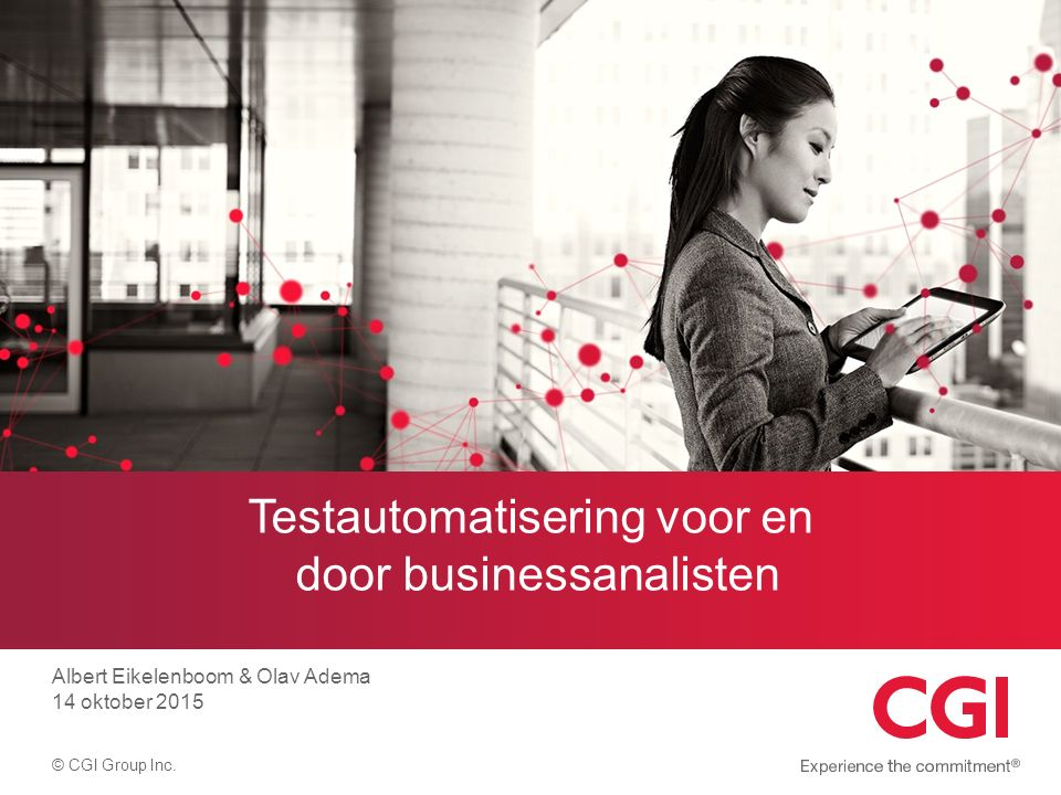 Testautomatisering voor en door businessanalisten