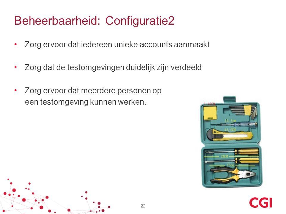 Beheerbaarheid: Configuratie2