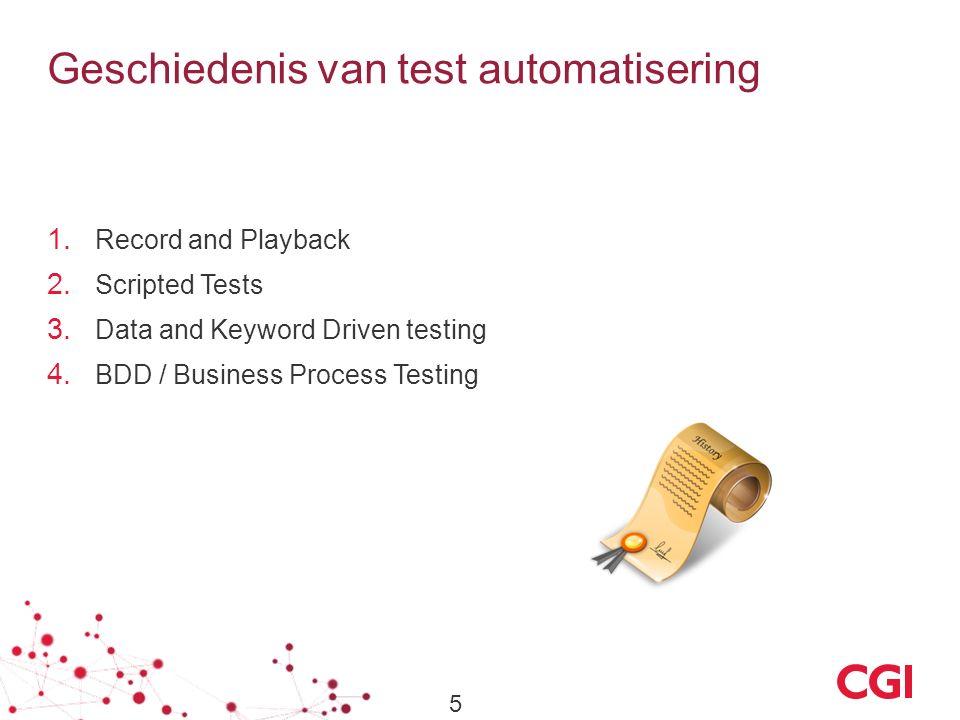 Geschiedenis van test automatisering