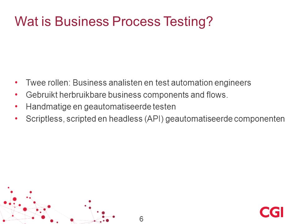 Wat is Business Process Testing