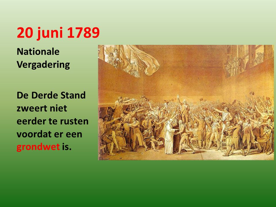 20 juni 1789 Nationale Vergadering
