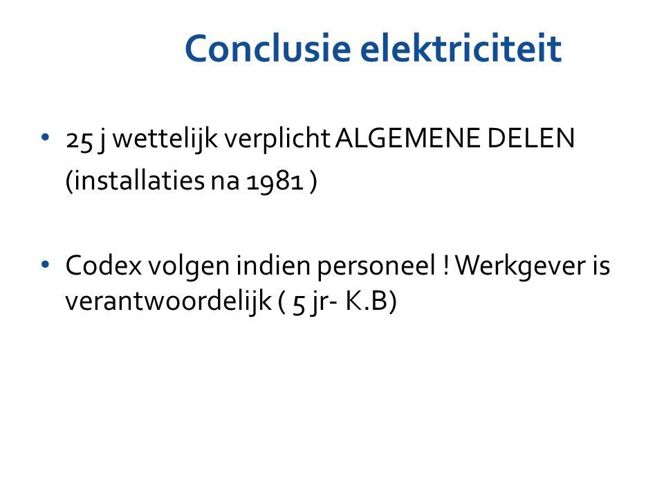 Conclusie elektriciteit