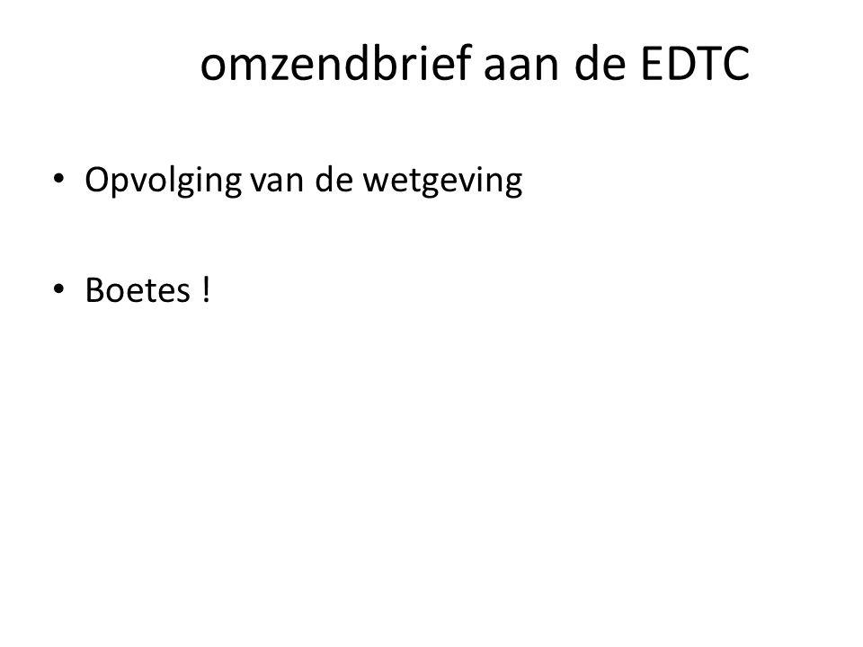omzendbrief aan de EDTC