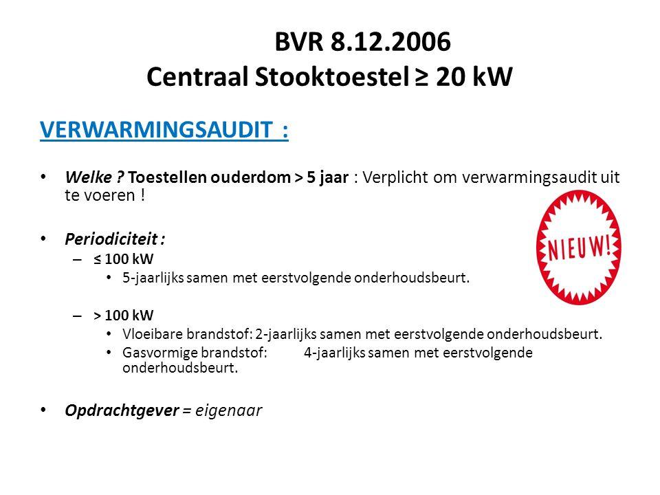BVR 8.12.2006 Centraal Stooktoestel ≥ 20 kW