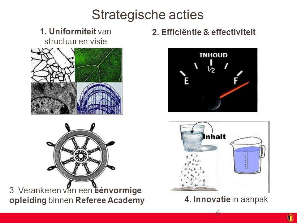 1. Uniformiteit van structuur en visie
