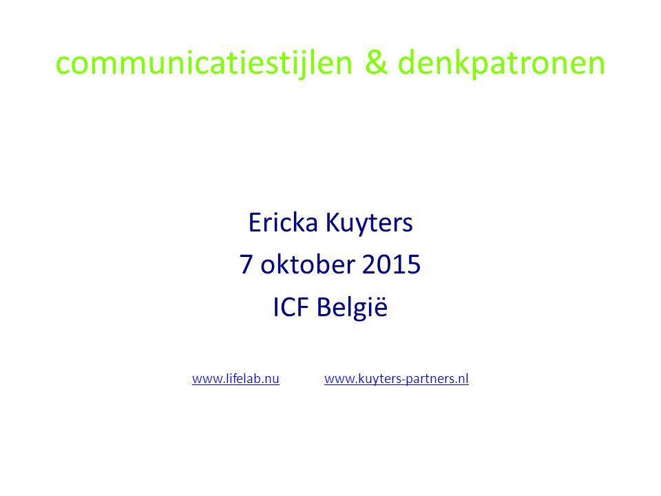 communicatiestijlen & denkpatronen