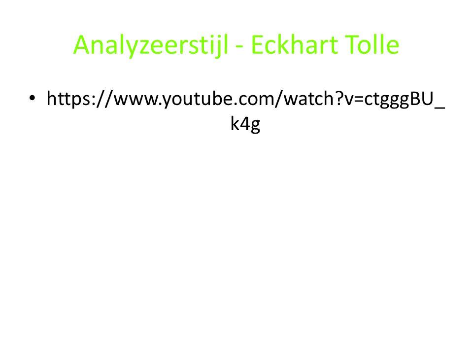 Analyzeerstijl - Eckhart Tolle