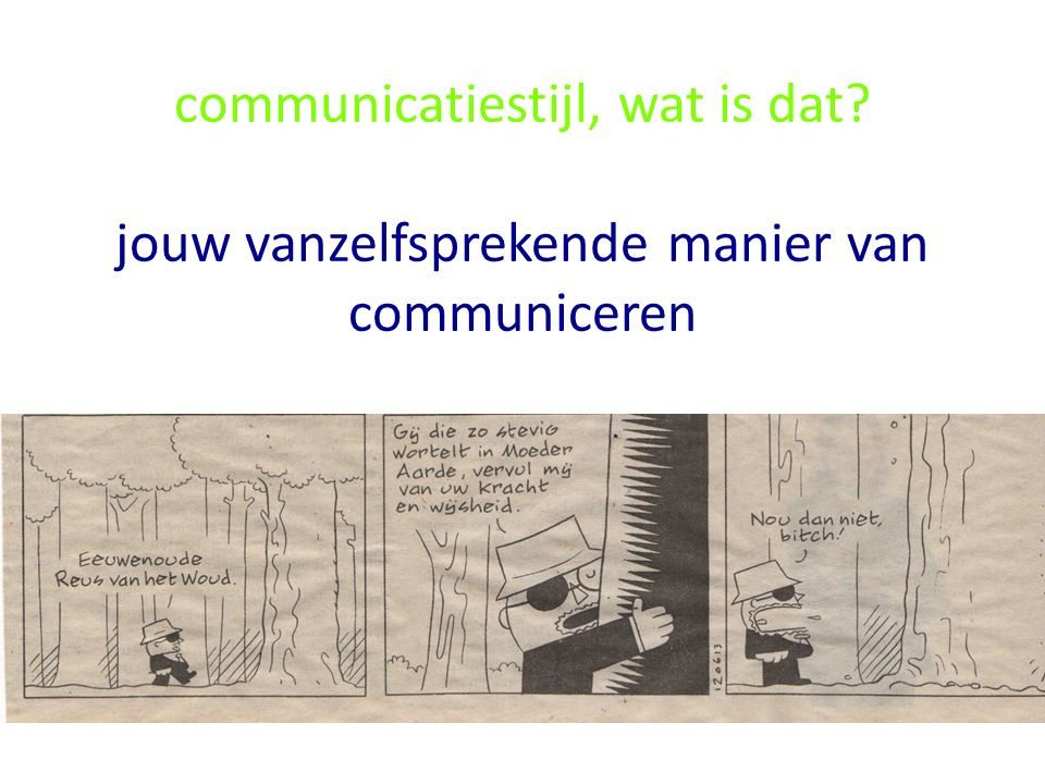 communicatiestijl, wat is dat