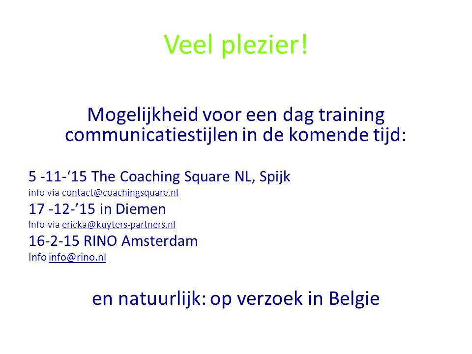 en natuurlijk: op verzoek in Belgie