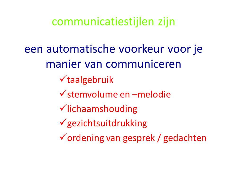 communicatiestijlen zijn