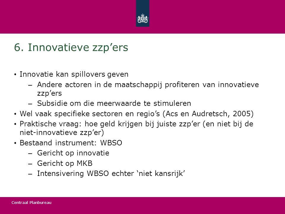 6. Innovatieve zzp'ers Innovatie kan spillovers geven