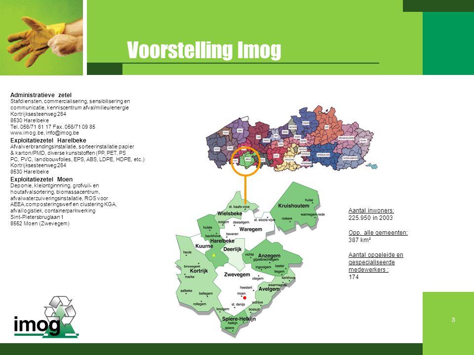 Voorstelling Imog Administratieve zetel Exploitatiezetel Harelbeke