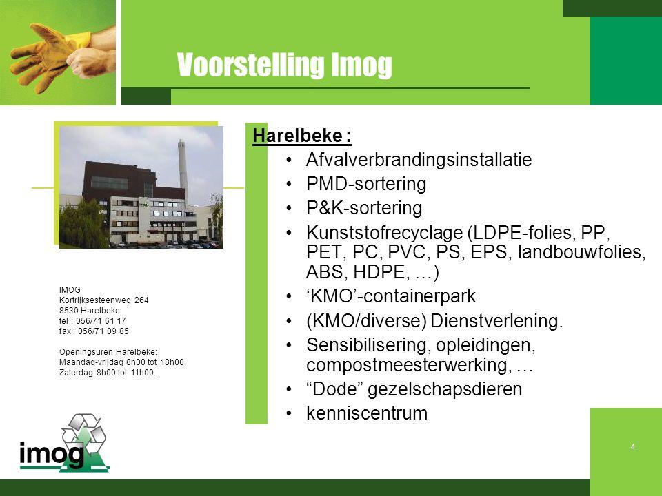Voorstelling Imog Harelbeke : Afvalverbrandingsinstallatie
