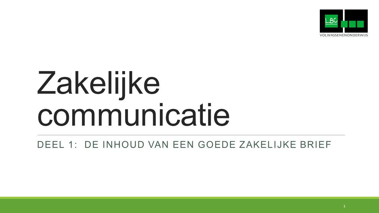 Zakelijke communicatie