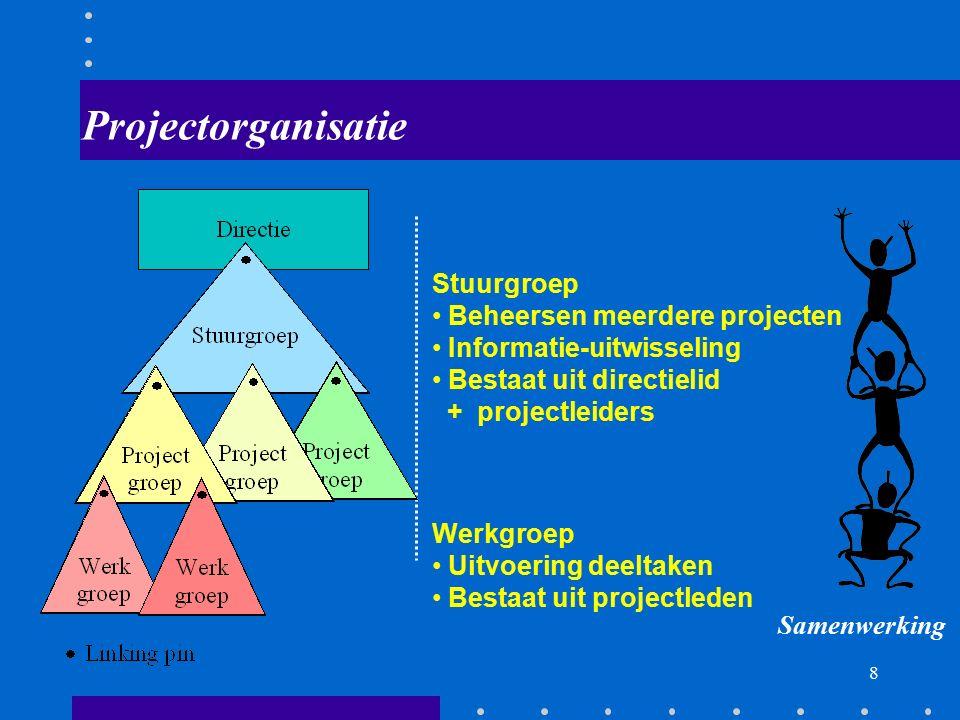 Projectorganisatie Stuurgroep Beheersen meerdere projecten