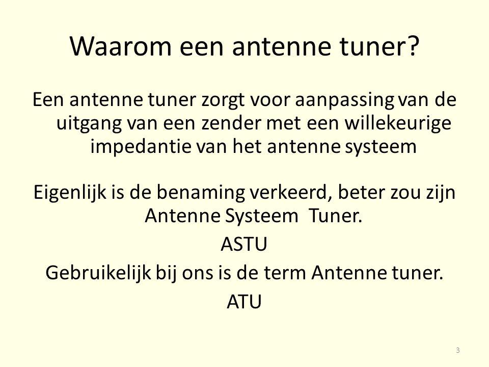 Waarom een antenne tuner