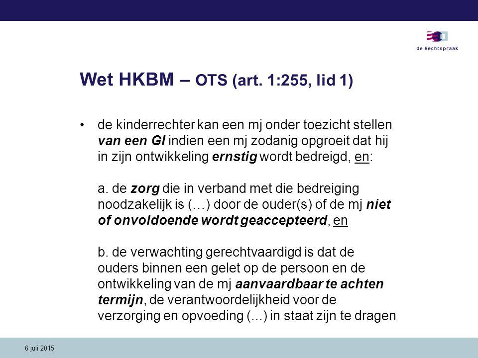 Wet HKBM – OTS (art. 1:255, lid 1)