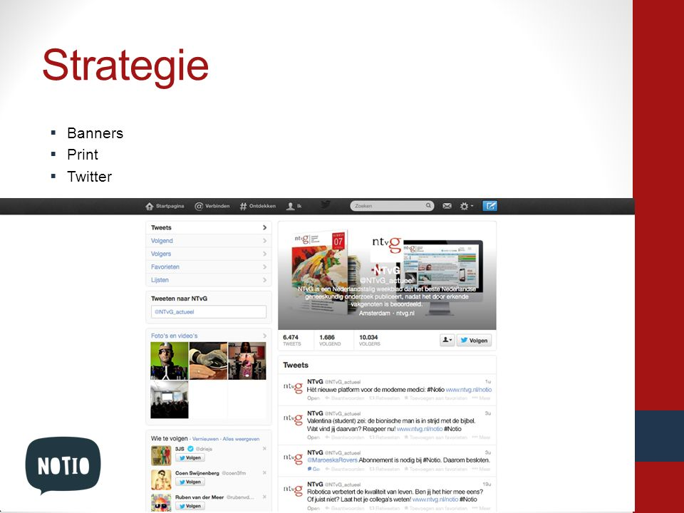 Strategie Banners Print Twitter Platforms: