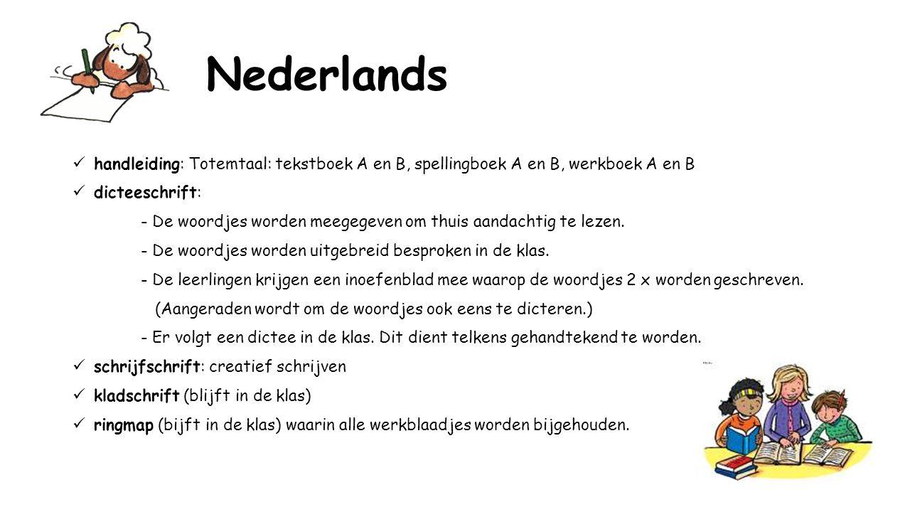 Nederlands handleiding: Totemtaal: tekstboek A en B, spellingboek A en B, werkboek A en B. dicteeschrift: