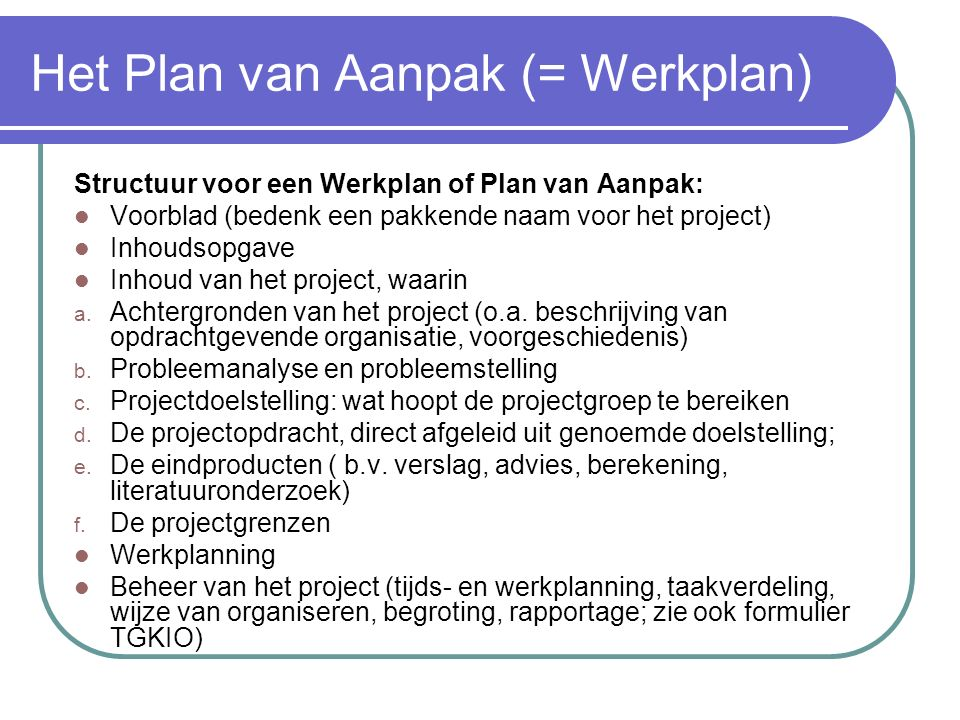 format werkplan   Thinkpawsitive.co