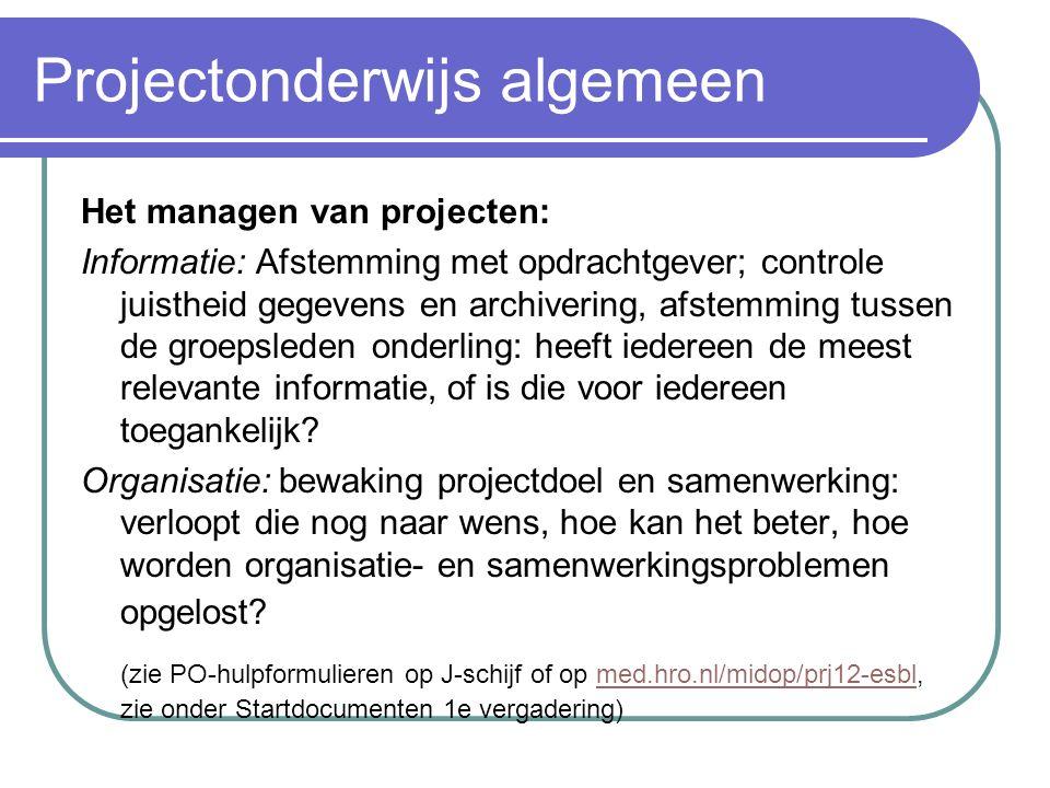 Projectonderwijs algemeen