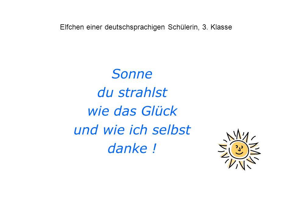 Elfchen einer deutschsprachigen Schülerin, 3. Klasse