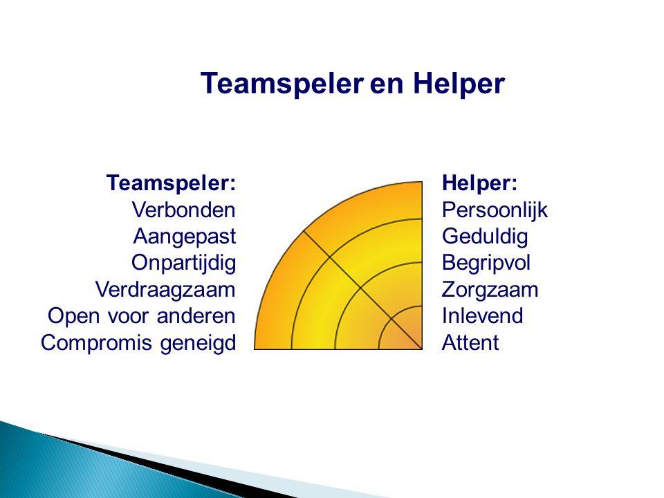 Teamspeler en Helper Teamspeler: Verbonden Aangepast