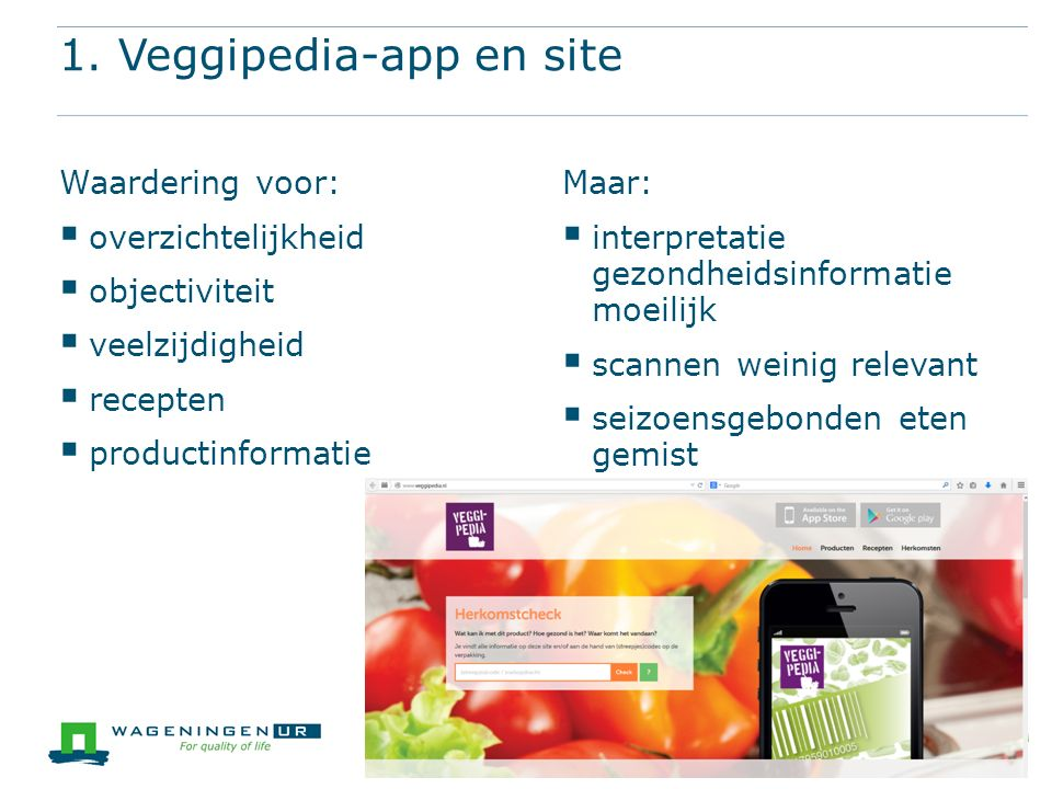 1. Veggipedia-app en site