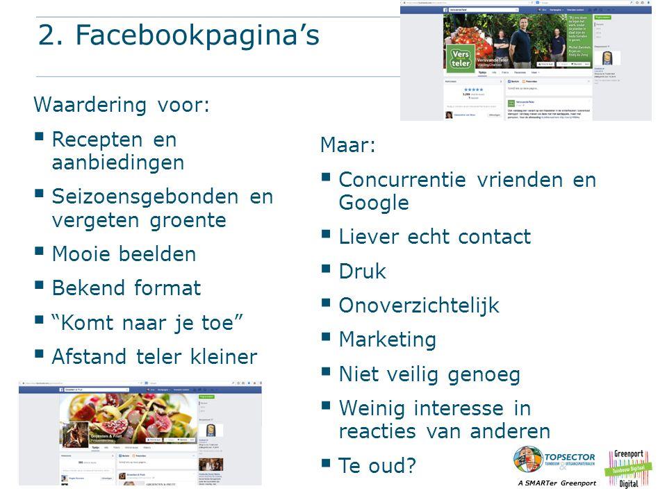 2. Facebookpagina's Waardering voor: Recepten en aanbiedingen