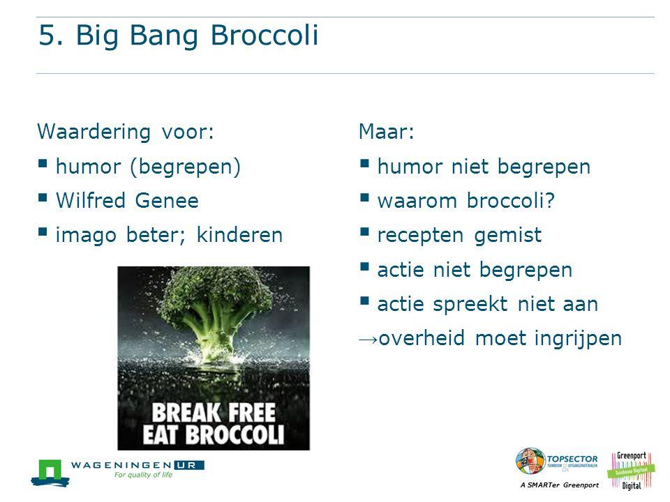 5. Big Bang Broccoli Waardering voor: humor (begrepen) Wilfred Genee