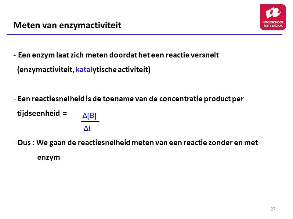 Meten van enzymactiviteit
