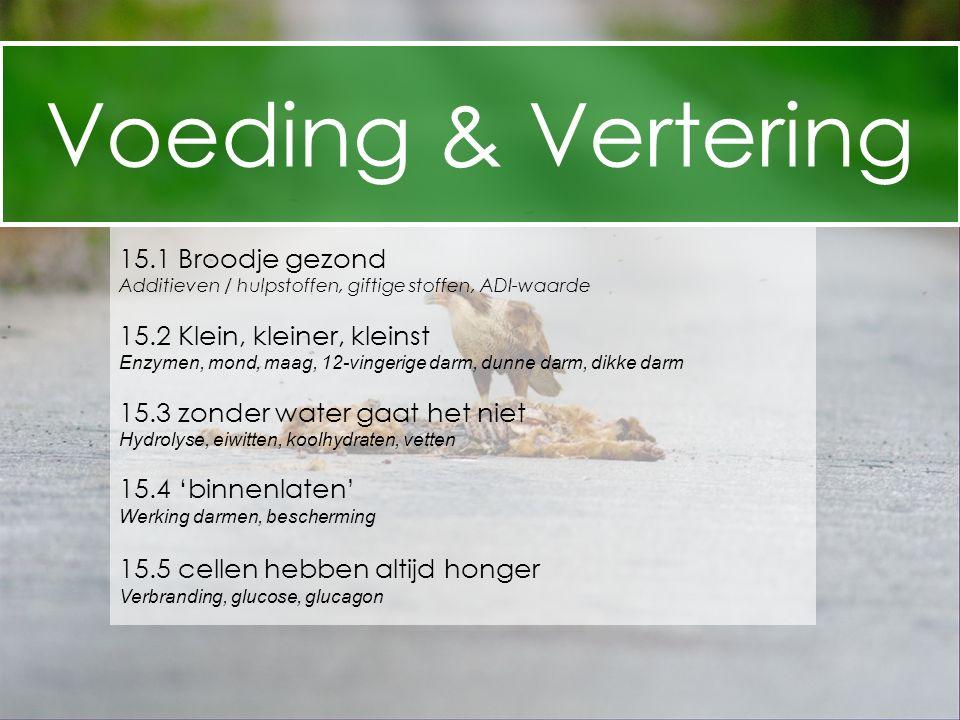 Voeding & Vertering 15.1 Broodje gezond 15.2 Klein, kleiner, kleinst
