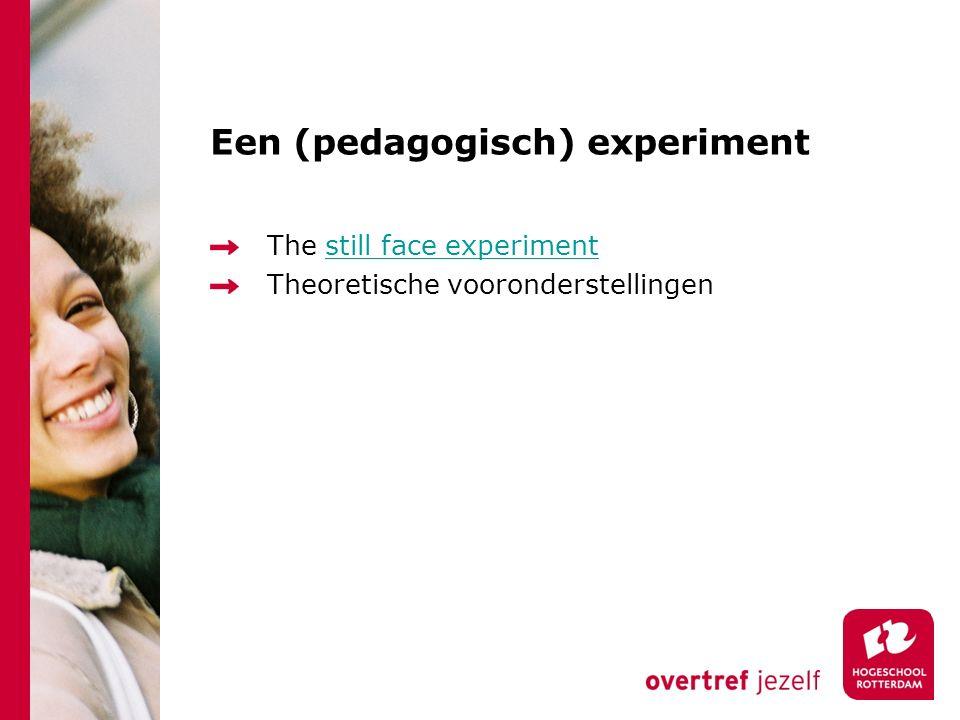 Een (pedagogisch) experiment