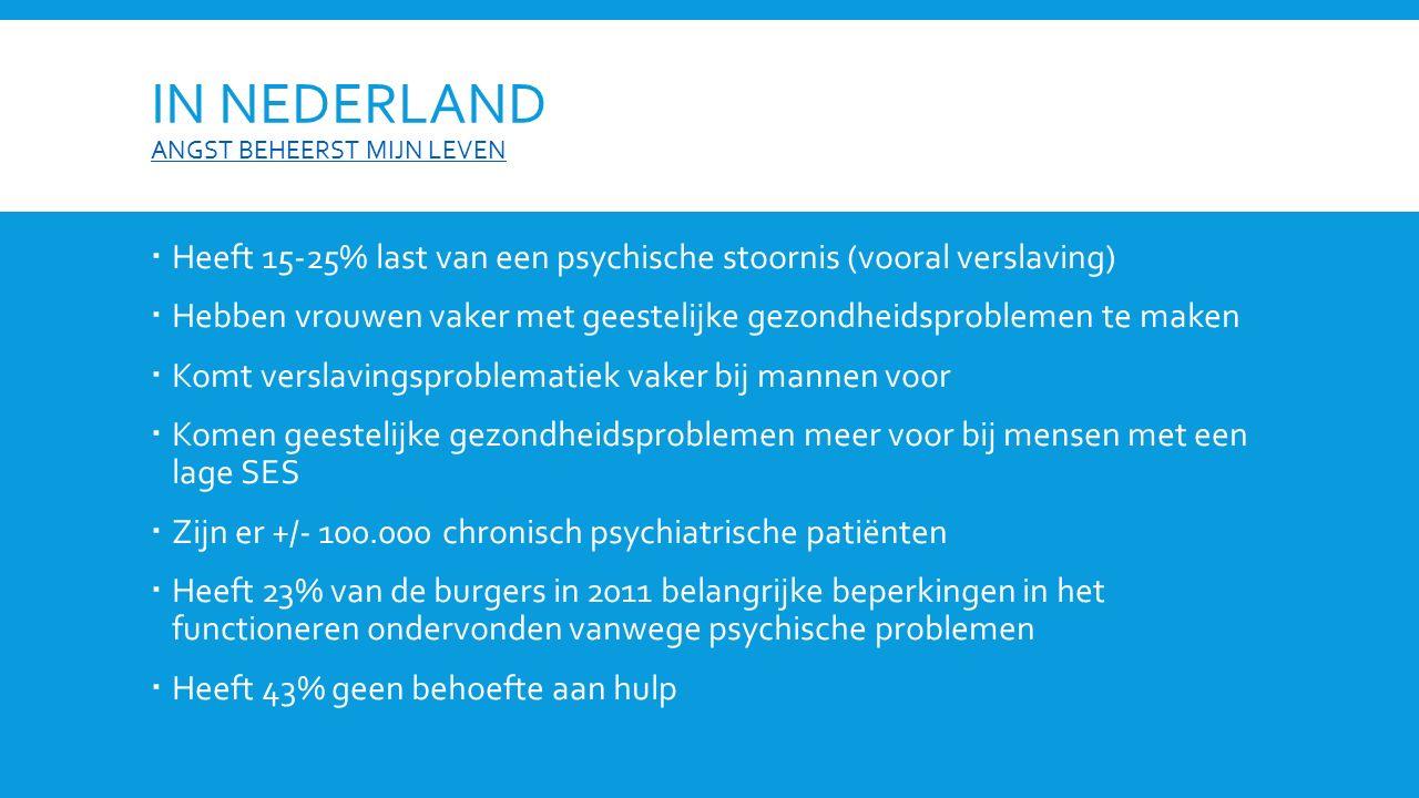 In Nederland angst beheerst mijn leven
