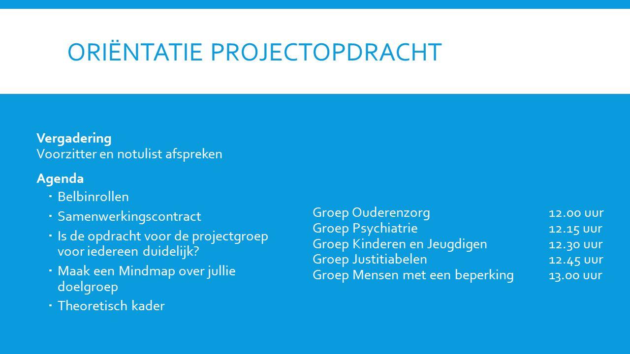 Oriëntatie projectopdracht