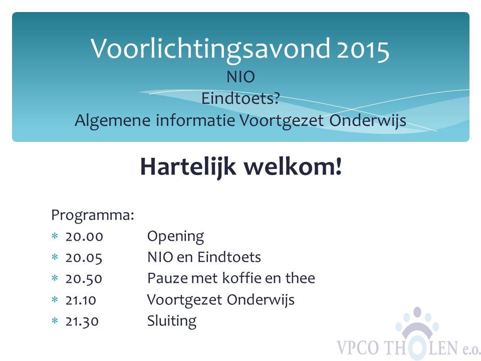Voorlichtingsavond 2015 NIO Eindtoets