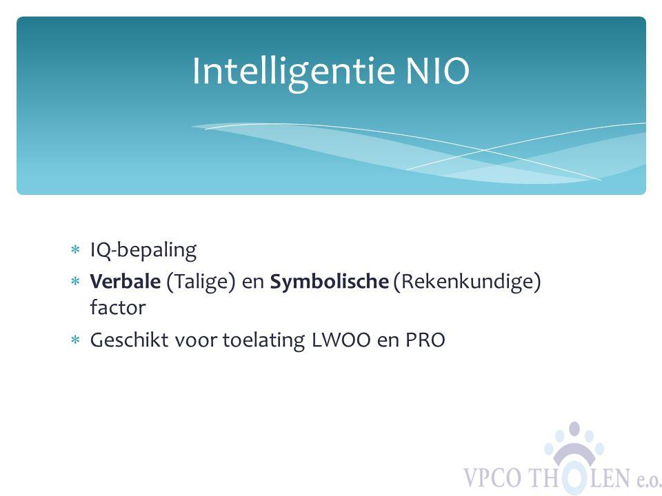 Intelligentie NIO IQ-bepaling