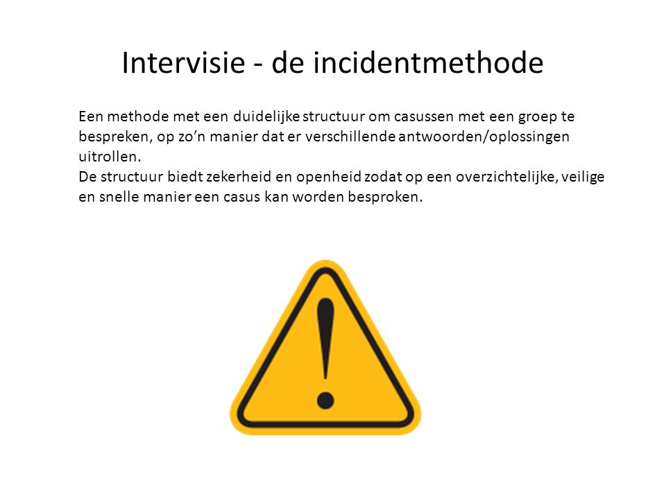Intervisie - de incidentmethode