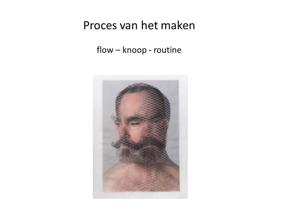 Proces van het maken flow – knoop - routine