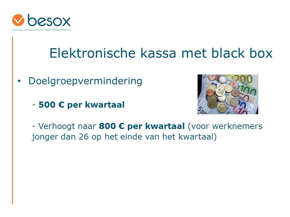 Elektronische kassa met black box